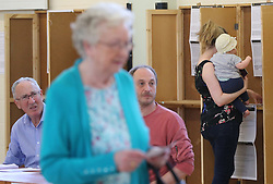 People cast their ballots in Dublin, as the country goes to the polls to vote in the referendum on the 8th Amendment of the Irish Constitution.