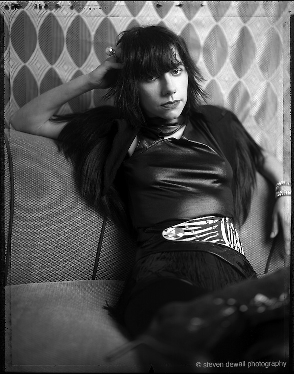 PJ Harvey photographed at the Argyle Hotel on Sunset Blvd. in 2004