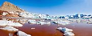 King's Glacier in King's Fjord, western Spitsbergen, Svalbard