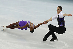 The XXII Winter Olympic Games 2014 in Sotchi, Olympics, Olympische Winterspiele Sotschi 2014, Figure Skating, Pairs Short Program,<br /> Vanessa James and Morgan Cipres (France)   perform their short program in the pair skating competition at the XXII Olympic Winter Games *** Local Caption ***