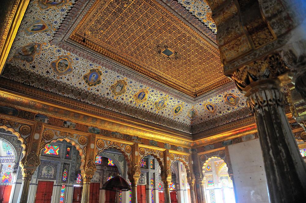 Ceiling of the Maharaja's pleasure room