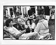 Garden party near Henley. 1982.  *** Local Caption *** -DO NOT ARCHIVE-? Copyright Photograph by Dafydd Jones 248 Clapham Rd. London SW9 0pZ Tel 0207 820  0771www.dafjones.com
