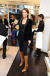 SAFFRON ALDRIDGE at a party to celebrate the opening of Pincess Marie-Chantal of Greece's store 'Marie-Chantal' 133A Sloane Street, London on 14th October 2008.