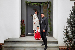American model Chanel Iman looks radiant in a new Christmas ad campaign for H&M as she shows off her burgeoning baby bump while posing with her husband and toddler daughter. The 29-year-old Dope actress and Victoria's Secret star looks immaculate in a glittery off-white dress, as she showcases the shop's new styles for ladies, men and kids along with her husband, New York Giants football star Sterling Shepard, 26, and their daughter Cali aged, 1. Chanel and Sterling revealed in August that they were expecting child number two. The couple married back in March 2018 at the Beverly Hills Hotel in Los Angeles, California. 10 Dec 2019 Pictured: Pregnant model and actress Chanel Iman stars in a new H&M Christmas ad campaign with husband Sterling Shepard and their daughter, Cali. Photo credit: H&M/ MEGA TheMegaAgency.com +1 888 505 6342