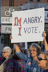 October 3, 2018 - Detroit, Michigan, U.S. - Detroit, Michigan USA - 3 October 2018 - People gathered at the McNamara Federal Building to oppose the confirmation of Brett Kavanaugh to the Supreme Court. The rally was organized by MoveOn.org. (Credit Image: © Jim West/ZUMA Wire)