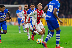 13-03-2019 NED: Ajax - PEC Zwolle, Amsterdam<br /> Ajax has booked an oppressive victory over PEC Zwolle without entertaining the public 2-1 / Kasper Dolberg #25 of Ajax