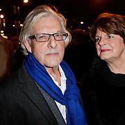 NLD/Amsterdam/20120313 - Inloop Boekenbal 2012, Jan Siebelink en partner