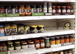 """A single jar of Marmite remaining on the shelf of a Tesco store in Victoria, London, as Unilever's finance chief admitted that the prices of its popular products will rise as a result of the collapse in sterling, a day after the firm was accused of """"exploiting consumers"""" following a row with Tesco."""