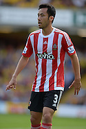 Maya Yoshida of Southampton looking on. Barclays Premier League, Watford v Southampton at Vicarage Road in London on Sunday 23rd August 2015.<br /> pic by John Patrick Fletcher, Andrew Orchard sports photography.