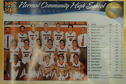 23 November 2015: Bloomington Raiders v UHigh Pioneers, Boys Intercity at Shirk Center, Bloomington Illinois
