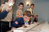 Boy Scout pack 243 2nd annual Rain Gutter Regatta January 24, 2011.
