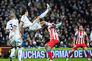 Arbeloa struggling with Falcao, as throughout the whole match