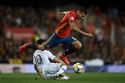 March 23, 2019 - Valencia, Valencia, Spain - Dani Ceballos of Spain and Tarik Elyounoussi of Norway battle for the ball during the 2020 UEFA European Championships group F qualifying match between Spain and Norway at Estadi de Mestalla on March 23, 2019 in Valencia, Spain. (Credit Image: © Jose Breton/NurPhoto via ZUMA Press)