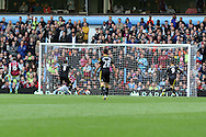 Chelsea's Frank Lampard (8) scores his sides 2nd goal. Barclays Premier League, Aston Villa v Chelsea at Villa Park in Birmingham on Saturday 11th May 2013. pic by Andrew Orchard,  Andrew Orchard sports photography,