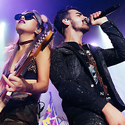 DNCE performing live at The Fillmore concert venue in San Francisco, CA on January 22, 2017