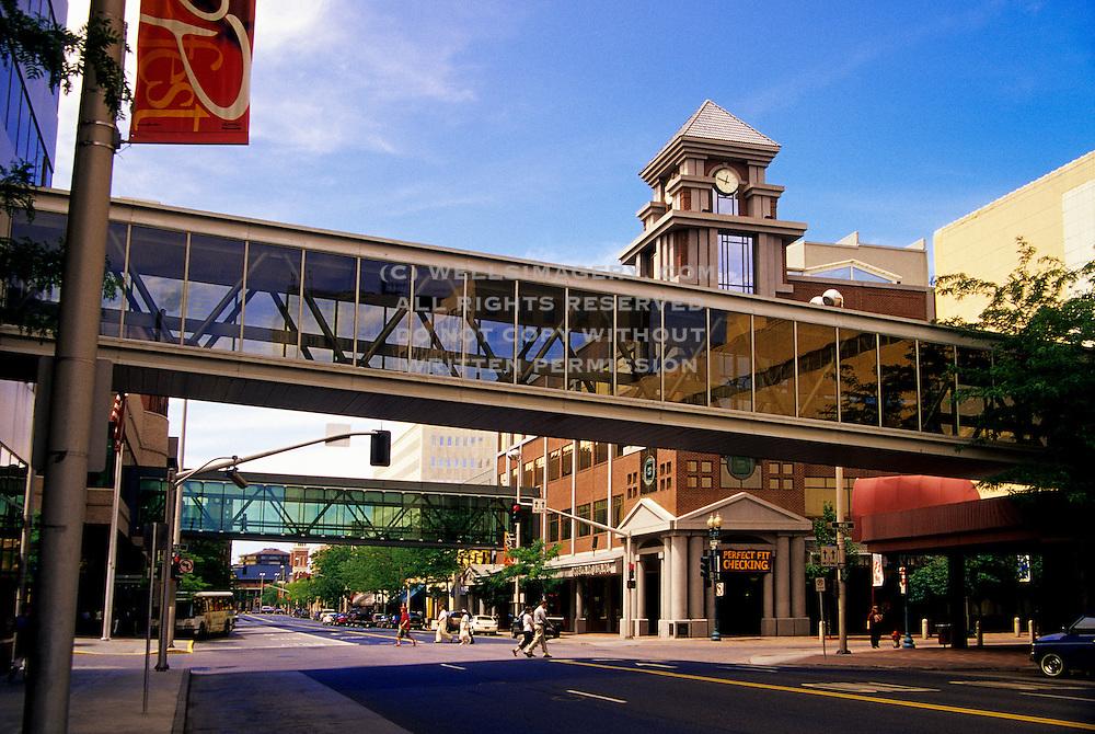 Image of downtown Spokane with skybridges, Spokane, Washington, Pacific Northwest by Randy Wells