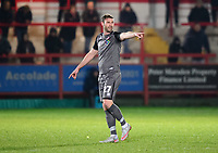 Lincoln City's Jamie McCombe<br /> <br /> Photographer Andrew Vaughan/CameraSport<br /> <br /> The EFL Checkatrade Trophy Second Round - Accrington Stanley v Lincoln City - Crown Ground - Accrington<br />  <br /> World Copyright © 2018 CameraSport. All rights reserved. 43 Linden Ave. Countesthorpe. Leicester. England. LE8 5PG - Tel: +44 (0) 116 277 4147 - admin@camerasport.com - www.camerasport.com