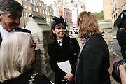 Robin Birley and Lucy Ferry , Mark Birley funeral. St Paul's , Knightsbridge. London. 19 September 2007. -DO NOT ARCHIVE-© Copyright Photograph by Dafydd Jones. 248 Clapham Rd. London SW9 0PZ. Tel 0207 820 0771. www.dafjones.com.