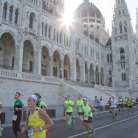 Thousands of people participate the Budapest Marathon across the streets in Budapest, Hungary on Oct. 15, 2017. ATTILA VOLGYI
