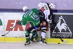 Ales Music vs Tomi Hafner at 39th Round of EBEL League ice hockey match between HDD Tilia Olimpija and Acroni Jesenice, on December 30, 2008, in Arena Tivoli, Ljubljana, Slovenia. Tilia Olimpija won 4:3. (Photo by Vid Ponikvar / SportIda).