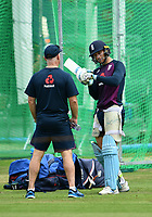 Cricket - 2019 ICC Cricket World Cup - pre-Final practice & press conferences<br /> <br /> England's Jos Buttler in discussion with batting coach Graham Thorpe, at Lords.<br /> <br /> COLORSPORT/ASHLEY WESTERN
