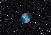 Dumbbell Nebila, messier 27, in constellation Vulpecula.