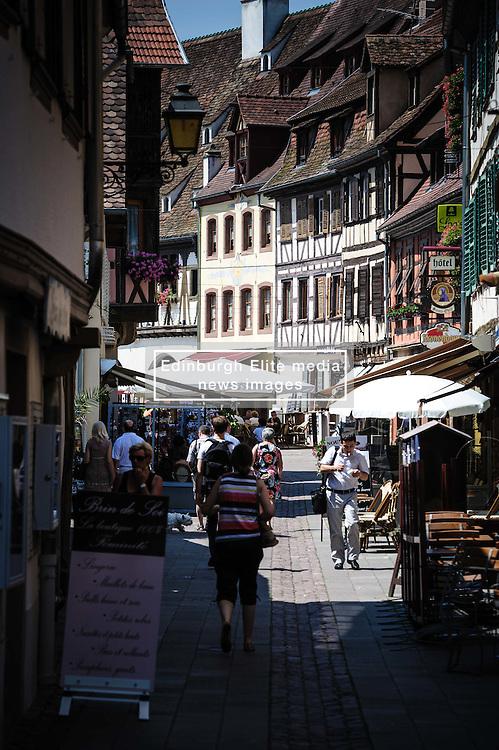 Street scene in Obernai, Alsace, France<br /> <br /> (c) Andrew Wilson | Edinburgh Elite media