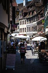 Street scene in Obernai, Alsace, France<br /> <br /> (c) Andrew Wilson   Edinburgh Elite media