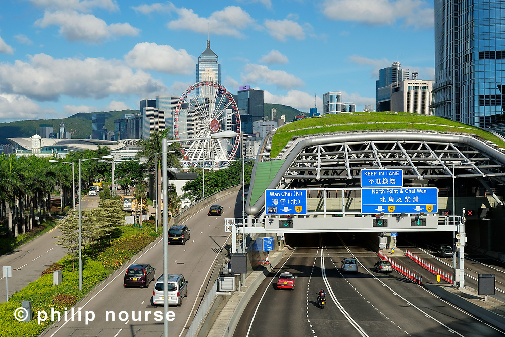 The Central-Wan Chai Bypass and Hong Kong Observation Wheel, Central