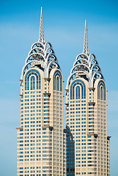 Reproduction skyscrapers of Chrysler Building in Dubai United Arab Emirates