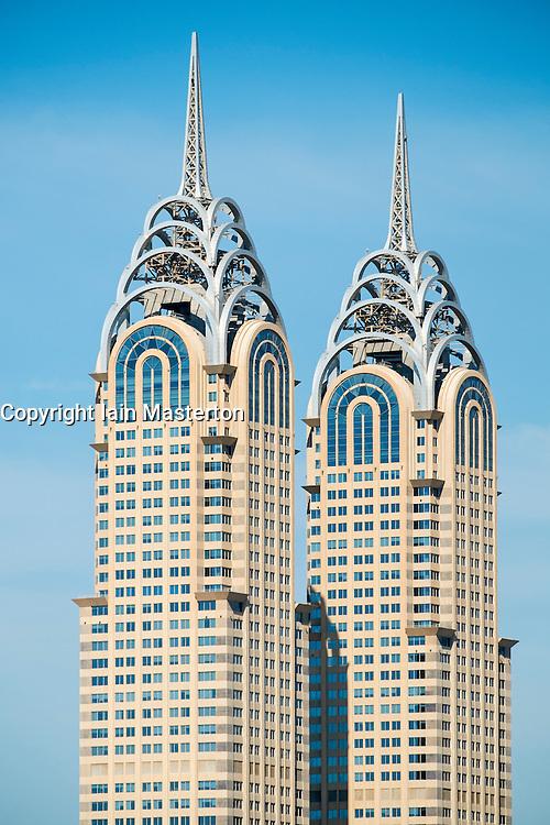 Reproduction skyscrapers of Chrysler Building in Dubai United Arab Emirates