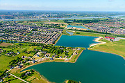 Nederland, Gelderland, Gemeente Nijmegen, 29-05-2019; Lent of Nijmegen Noord, 't Zand, (voormalige) buurtschap, maakt nu (deels) onderdeel uit van het stedenbouwkundige project de Waalsprong. De stad Mijmegwne en de Waal aan de horizon.<br /> Nijmegen North, 't Zand, (former) hamlet, is now (partly) part of the urban development project De Waalsprong.<br /> <br /> luchtfoto (toeslag op standard tarieven);<br /> aerial photo (additional fee required);<br /> copyright foto/photo Siebe Swart