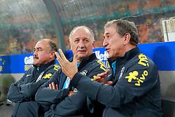 Luiz Felipe Scolari, técnico da Seleção Brasileira de Futebol no amistoso contra África do Sul, no estádio Soccer City, em Joanesburgo. FOTO: Jefferson Bernardes/ Agência Preview