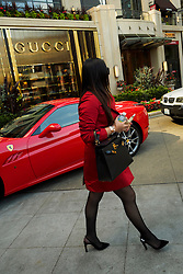 North America, United States, Washington, Bellevue. High-end shopping including Gucci and Neiman-Marcus at The Bravern Building.