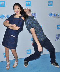 (L-R) Cyrene Q and Shonduras arrives at We Day California 2017 held at The Forum in Inglewood, CA on Thursday, April 27, 2017. (Photo By Sthanlee B. Mirador) *** Please Use Credit from Credit Field ***