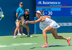 August 5, 2018 - San Jose, CA, U.S. - SAN JOSE, CA - AUGUST 05: Mihaela Buzarnescu (ROU) misses a serve during the WTA Singles Championship at the Mubadala Silicon Valley Classic  at the San Jose State University Stadium Court in San Jose, CA  on Sunday, August 5, 2018. (Photo by Douglas Stringer/Icon Sportswire) (Credit Image: © Douglas Stringer/Icon SMI via ZUMA Press)