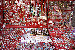 Jewellery Stall in market in Naples; Italy,