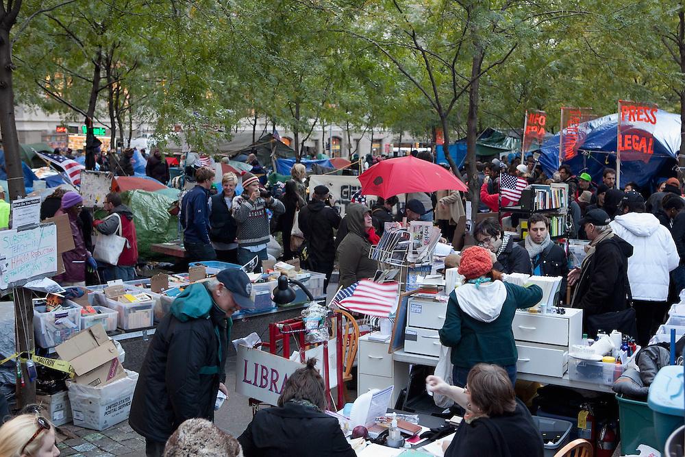 New York, NY: Zuccotti Park, Occupy Wall Street signage