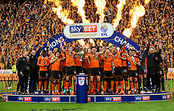 Free to use courtesy of Sky Bet - Wolverhampton Wanderers celebrate after lifting the Sky Bet Championship 2017/18 league trophy - Mandatory by-line: Matt McNulty/JMP - 28/04/2018 - FOOTBALL - Molineux - Wolverhampton, England - Wolverhampton Wanderers v Sheffield Wednesday - Sky Bet Championship