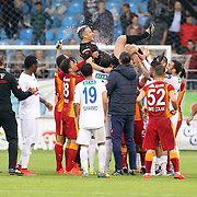 Referee's Mustafa Kamil Abitoglu during their Turkish Super League soccer match Caykur Rizespor between Galatasaray at the Yeni Rize Sehir stadium in Rize Turkey on Saturday, 30 May 2015. Photo by TVPN/TURKPIX