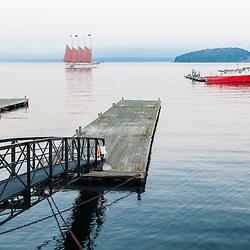The schooner Margaret Todd in bar Harbor, Maine.