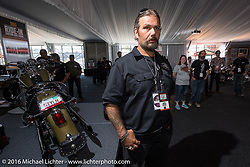 Cycle Source editor Chris Callen at the Milwaukee Rally. Milwaukee, WI, USA. Saturday, September 3, 2016. Photography ©2016 Michael Lichter.