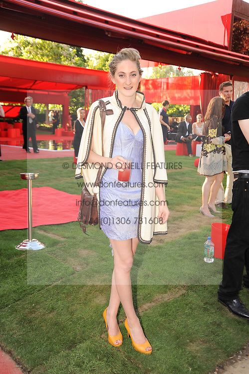 VIOLET NAYLOR-LEYLAND at the annual Serpentine Gallery Summer party this year sponsored by Jaguar held at the Serpentine Gallery, Kensington Gardens, London on 8th July 2010.  2010 marks the 40th anniversary of the Serpentine Gallery and the 10th Pavilion.