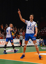 12-05-2019 NED: Abiant Lycurgus - Achterhoek Orion, Groningen<br /> Final Round 5 of 5 Eredivisie volleyball, Orion wins Dutch title after thriller against Lycurgus 3-2 / Wytze Kooistra #2 of Lycurgus
