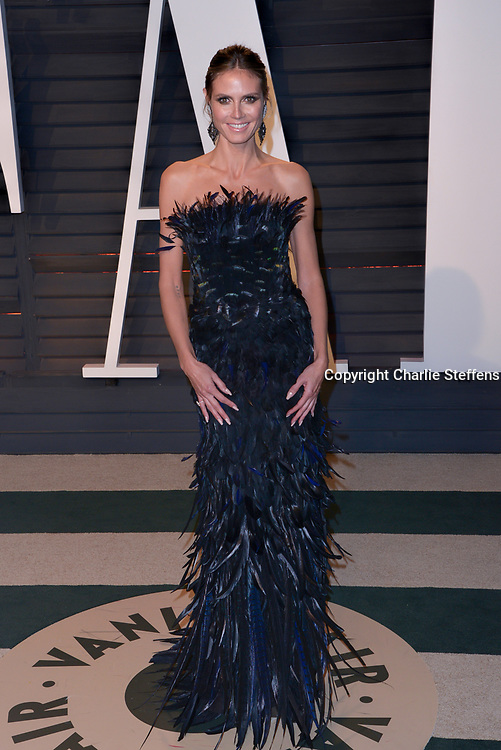 HEIDI KLUM at the Vanity Fair Oscar Party on February 26, 2017 at the Wallis Annenberg Center for the Performing Arts in Beverly Hills, California