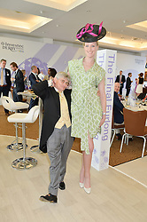 JADE PARFITT and WILLIE CARSON at the Investec Derby 2015 at Epsom Racecourse, Epsom, Surrey on 6th June 2015.