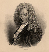 Francois Le Vaillant (1753-1824) French explorer, collector and ornithologist. He did not accept the new Linnaen nomenclature and it was left to others to assign binomial classification to the thousands of specimens he collected.  From 'The Naturalist's Library' edited by William Jardine (Edinburgh and London 1839-1854). Engraving.