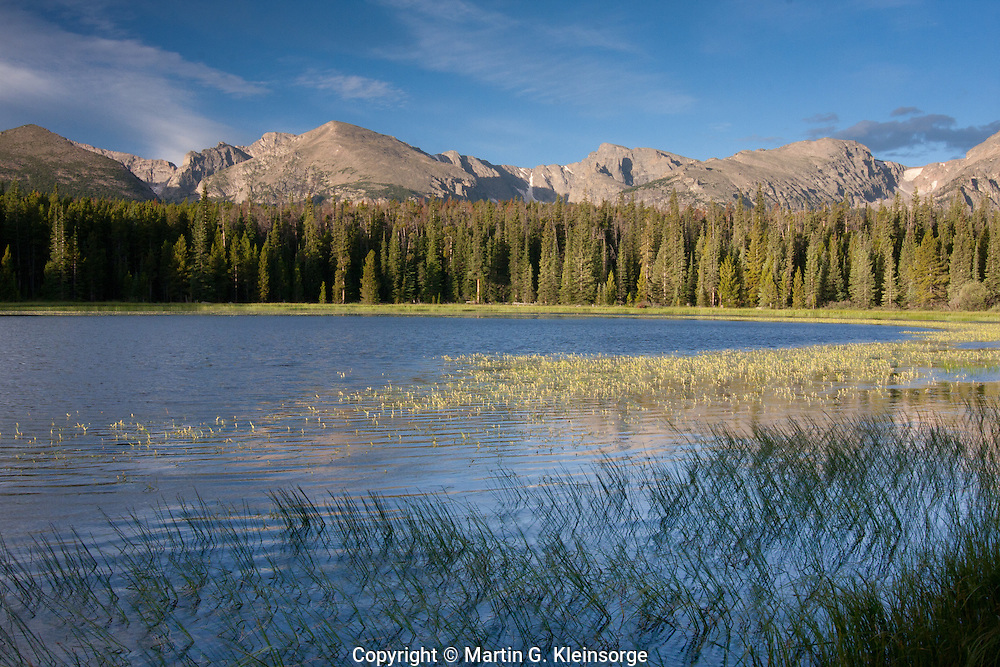 Bierstadt Lake below the Continental Divide at Rocky Mountain National Park, Colorado.