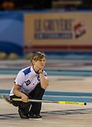 "Glasgow. SCOTLAND. Italy's, Stefania MENARDI,  ""Round Robin"" Games. Le Gruyère European Curling Championships. 2016 Venue, Braehead  Scotland<br /> Monday  21/11/2016<br /> <br /> [Mandatory Credit; Peter Spurrier/Intersport-images]"