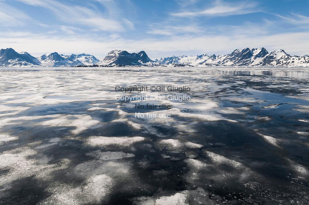 Groenland, sud est, région de Sermersooq, fjord entre  Kulusuk et Kuummiut // Greenland, Eastern Greenland, region of Sermersooq, fjord betwenn Kulusuk and Kuummiut